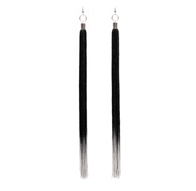 Transition earrings black perlensau