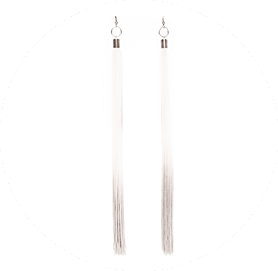 Transition earrings white perlensau 1