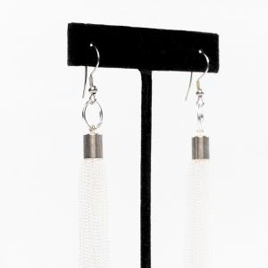 Transition earrings white perlensau 2