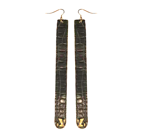 Z croco earrings zo landing